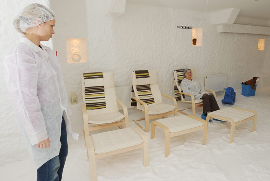 special clothes is required in The Salt Cave