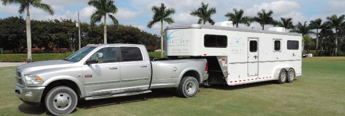 Equine Salt Spa trailer